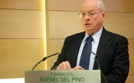 """La Fundación Rafael del Pino organiza la Conferencia Magistral """"políticas económicas para restaurar la prosperidad""""  con  Jerry L. Jordan ex miembro del Consejo de Asesores Económicos del Presidente Ronald Reagan. En Madrid el 22 de abril de 2013."""