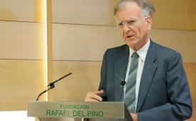 """La Fundación Rafael del Pino organiza la Conferencia Magistral de Roland Vaubel titulada """"Las instituciones europeas como grupo de interés"""".  Roland Vaubel es miembro del Consejo Asesor del Ministerio Federal alemán de Economía y Tecnología. En Madrid el 23 de Septiembre de 2013."""