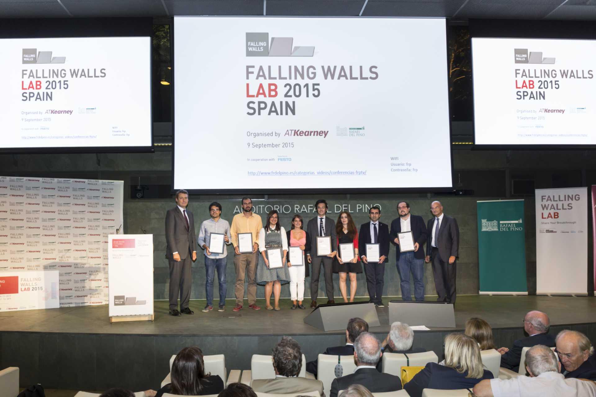 La Fundación Rafael del Pino y A.T.Kearney organizan la primera edición de Falling Walls Lab Spain. En Madrid 9 de septiembre de 2015. DS