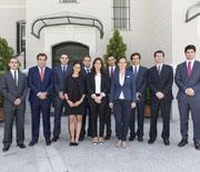Los becarios de la Fundación Rafael del Pino, en Madrid el 12 de Mayo de 2015.