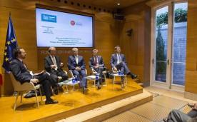 La Fundación Rafael del Pino junto con el Real Instituto El Cano, organizan  el debate ¿Una nueva gobernanza para el Euro? entre los economistas Philippe Martin, Thomas Westphal y Manuel Conthe. En Madrid el 22 de octubre de 2015. DS