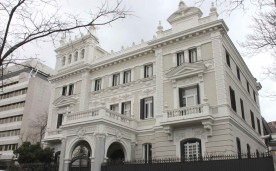 Former Mansion of Eduardo Adcoch, at 37 Paseo de la Castellana (avenue) in Chamberi district in Madrid (Spain), built in 1906.