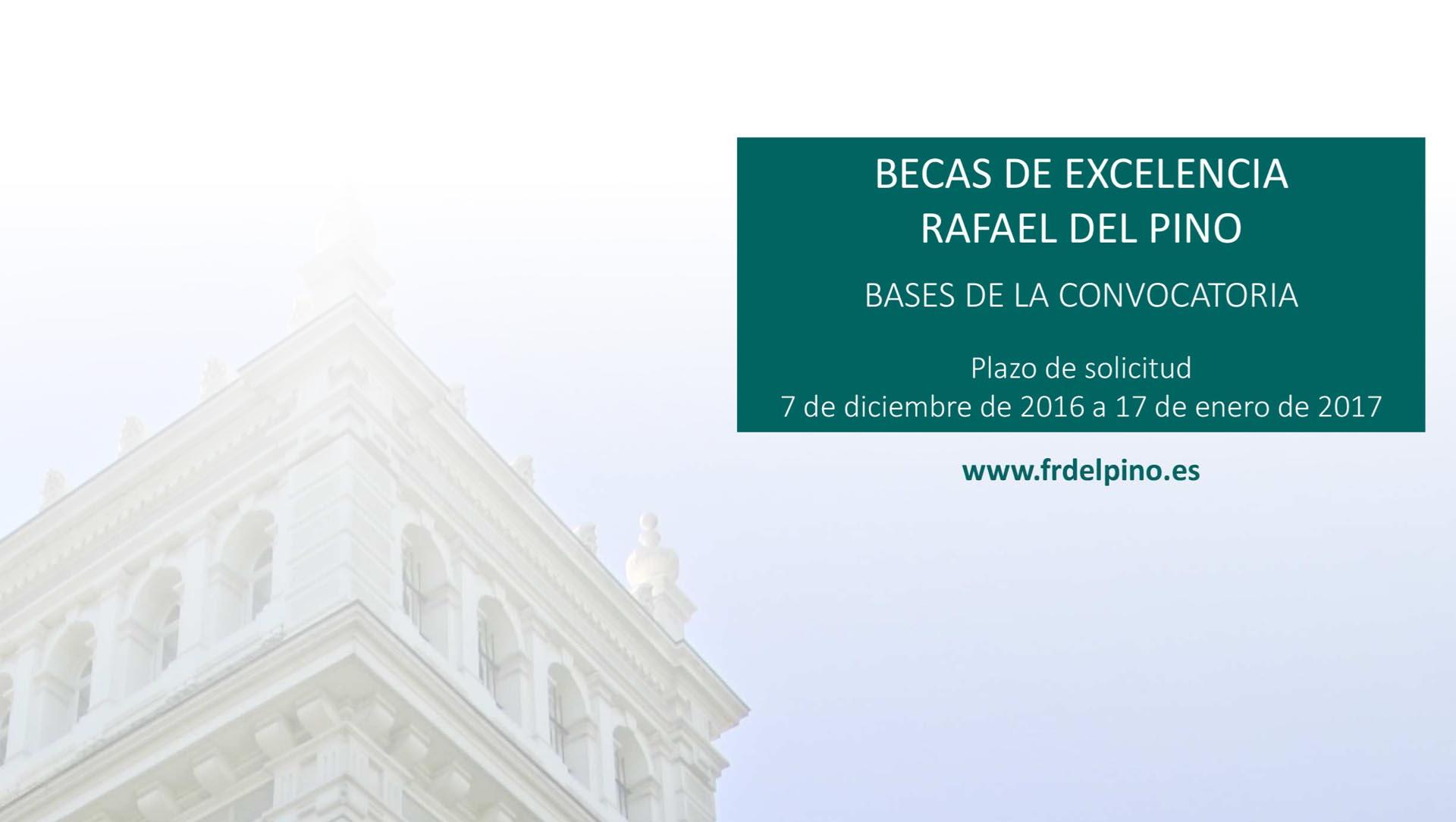 Becas de excelencia fundaci n rafael del pino - Becas de comedor 2017 ...